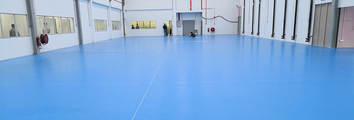Urethane concrete systerm for floor of food and beverage factories